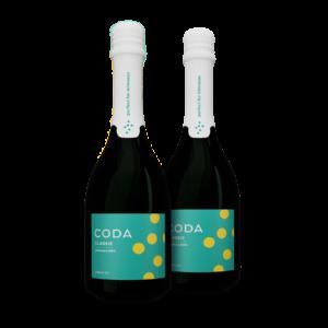 two bottles of coda classic