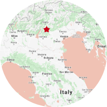 map view of italy